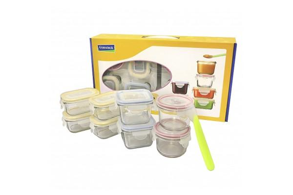 Detské dózy na potraviny - Baby set - 9 kusov GL-372
