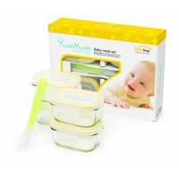 Detské dózy na potraviny - Baby set - 4x 150ml + lyžička GL-267