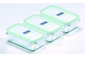 Sklenené boxy obdĺžnikové MCRB-040 / 3x 400 ml